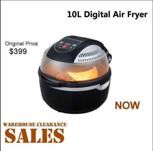 Super Chef 10L Air Fryer Rotary Rotating Rotisserie Convection Oven Multi Cooker