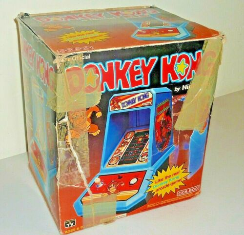 Top Holiday Gifts donkey kong table top arcade game coleco nintendo in box 1981 2391