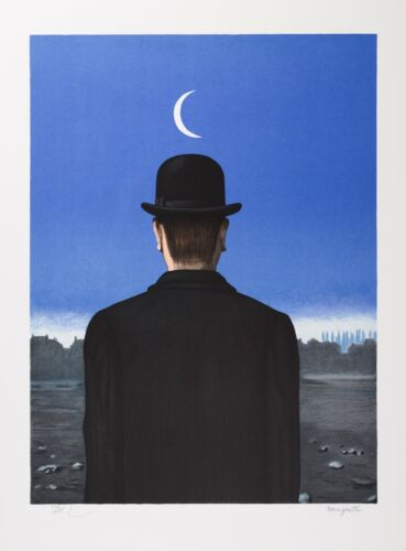 René Magritte - The School Master (signed & numbered lithograph)