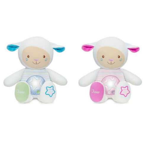 Chicco Lullaby Sheep Baby Soft Toy/Night light w/Voice Recorder/Sound Sensor 0m+