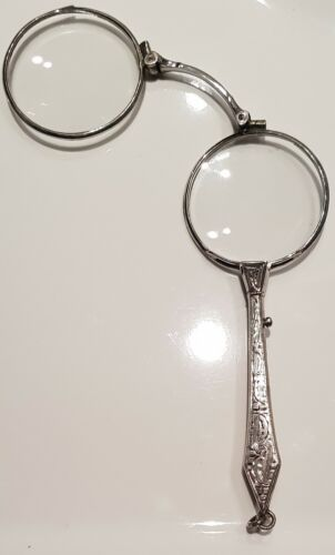 NICE ANTIQUE STERLING SILVER 925 EARLY 20TH CENTURY LORGNETTE, WORKS WELL