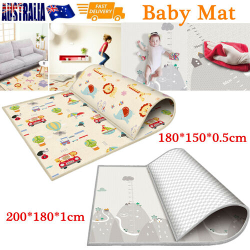 200/180CM Non-Slip Baby Carpet Game Mat Foam Puzzle Pad Crawling Baby Blanket