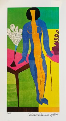 "HENRI MATISSE ""ZULMA"" Estate Signed & Stamped Limited Edition Small Giclee Art"