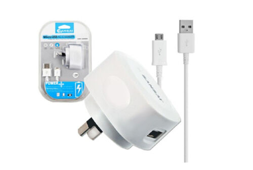 Sansai Charger Micro USB Charging Cable for Android/Samsung Galaxy/LG/HTC White