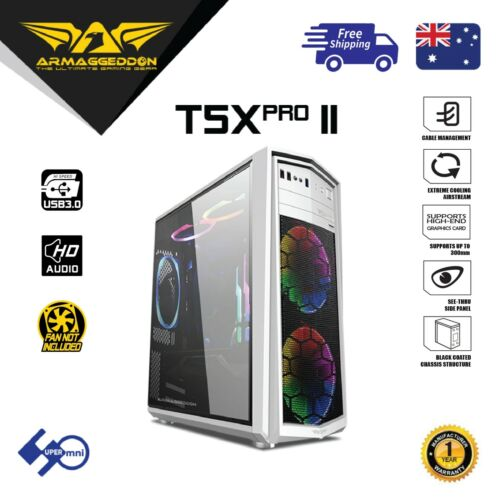 ARMAGGEDDON T5X Pro II Computer Gaming Case Full ATX without PSU without Fan