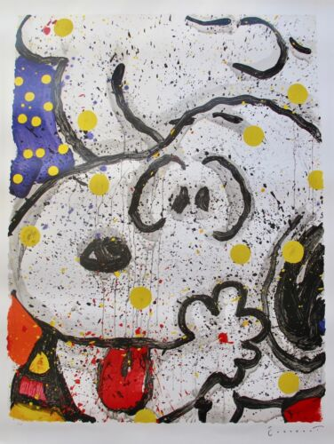 TOM EVERHART MAIN SQUEEZE Hand Signed Ltd Editon Lithograph SNOOPY CHARLIE BROWN