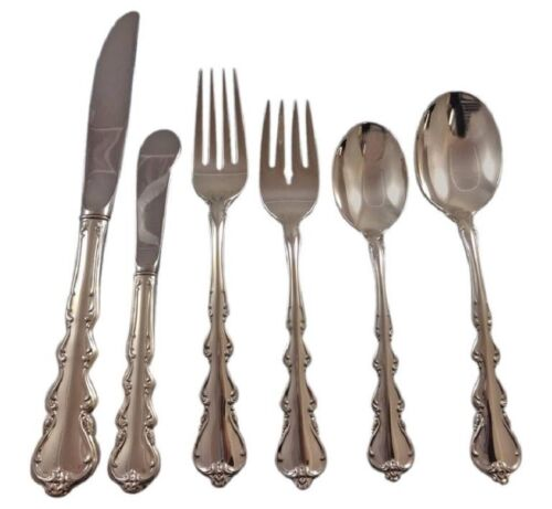 Angelique by International Sterling Silver Flatware Set For 18 Service 114 Pcs