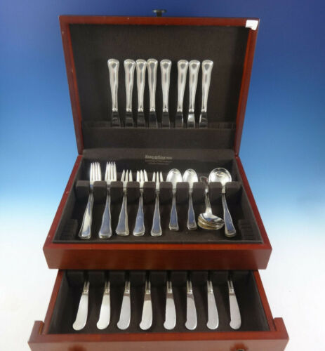 Old Danish by Cohr Sterling Silver Flatware Set For 8 Service 48 Pieces