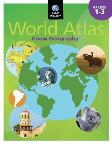 Know Geography World Atlas ] Grades 1-3 by Rand McNally (English) Paperback Book