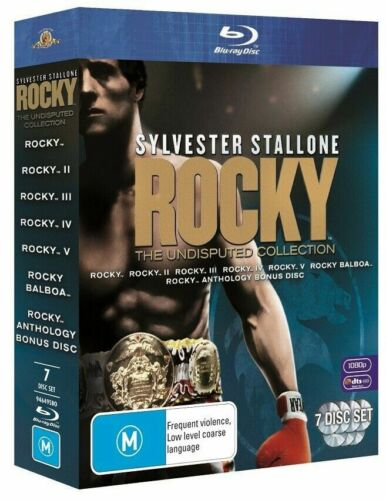 Rocky The Undisputed Collection Blu-Ray 7-Disc Boxset 1 2 3 4 5 6 Balboa AUS