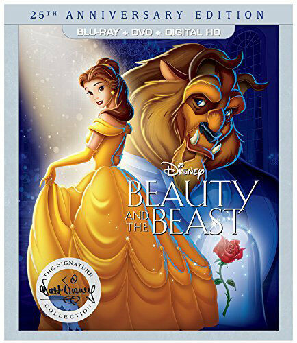 Beauty and the Beast (1991 Disney) (2 Disc, + DVD, 25th Anniversary) BLU-RAY NEW