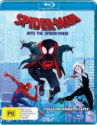 Spider-Man - Into The Spider-Verse - Blu Ray Region A,B,C Free Shipping!