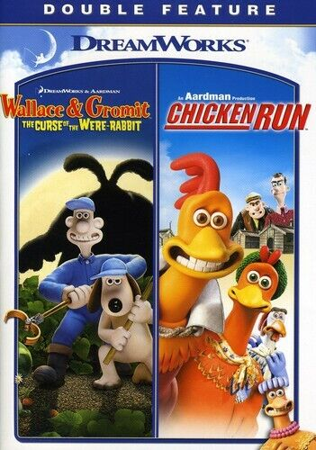 Wallace and Gromit in The Curse of the Were-Rabbit / Chicken Run DVD NEW