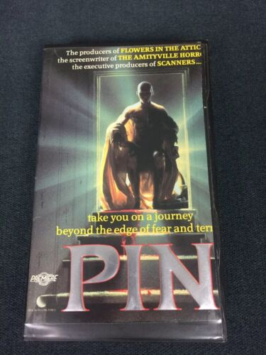1987 Pin VHS Classic Terry O'Quinn Horror Thriller Ex Rental Cropped Sleeve