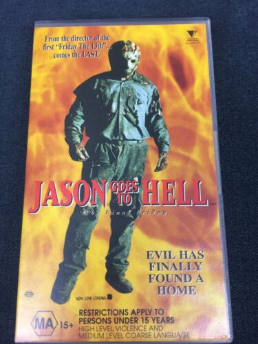 1993 Jason Goes To Hell: The Final Friday VHS Horror Rare MA15+ Sleeve Version