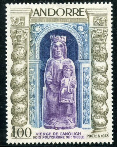 TIMBRE ANDORRE NEUF N° 228 ** VIERGE DE CANOLICH