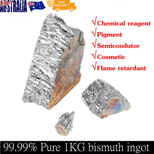 Bismuth crystals element metal-1000g Bismuth Metal Ingot Chunk 99.99/% Pure Crystal Geodes for Making Crystals//Fishing Lures