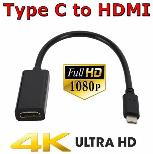 Type C 3.1 to HDMI Adapter USB-C Cable 4K Converter For MacBook Pro Air HD TV
