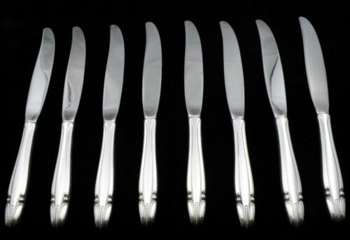 Wallace Stradivari Modern Sterling Hollow Handle Knife Set of 8 Pieces