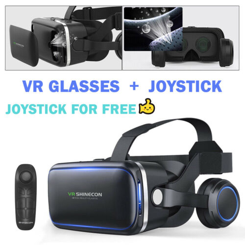 VR Headset BOX 3D Virtual Reality Glasses Fit Iphone 11 X 8 13 XR Samsung S9 S8