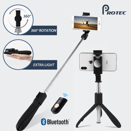 Bluetooth Extendable Selfie Stick Handheld Tripod Remote 360° For IPhone Samsung