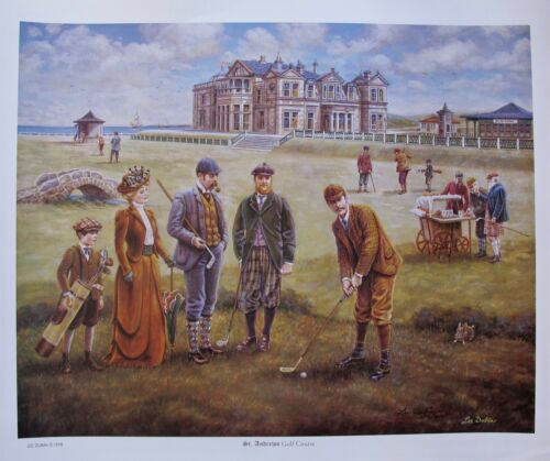 LEE DUBIN ST. ANDREWS GOLF COURSE Hand Signed Limited Edition Lithograph
