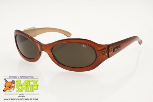 BOLLE' Vintage orange oval sunglasses, Traslucent coloration, New Old Stock