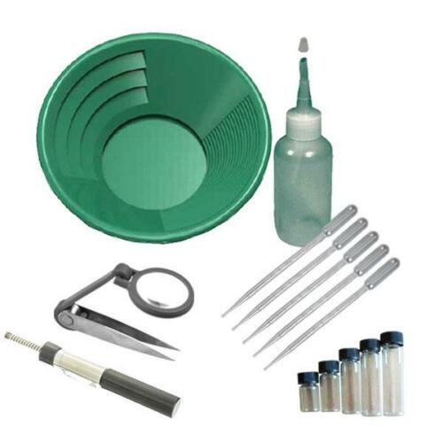 "GK3 12"" Green Gold Pan Panning Kit"