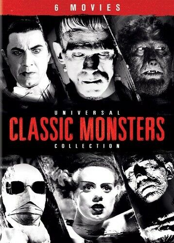 Universal Classic Monsters Collection - 6 Movies (6 Disc) DVD NEW