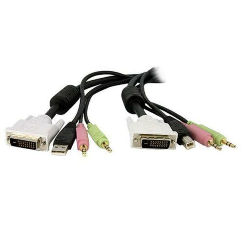 StarTech 4-in-1 USB Dual Link DVI-D KVM Switch Cable w/ Audio