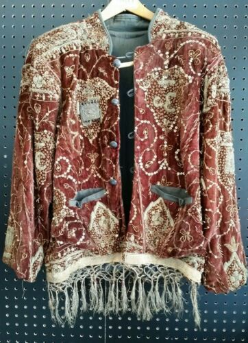 ANTIQUE MARWAR POLICE JODHPUR RAJASTHAN INDIA EMBROIDERED DECORATED JACKET COAT