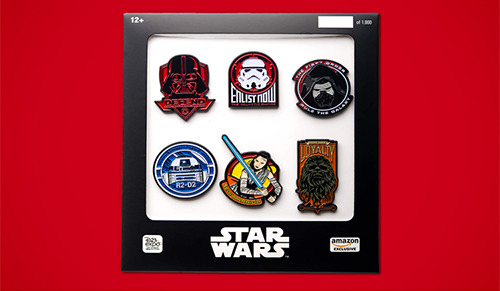Star Wars D23 Disney Expo Rare Pin Set Only 1,000 Made! Storm Trooper R2-D2 New