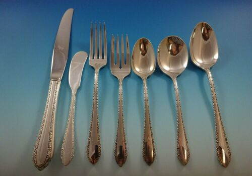 Wild Flower by Royal Crest Sterling Silver Flatware Set For 8 Service 65 Pieces
