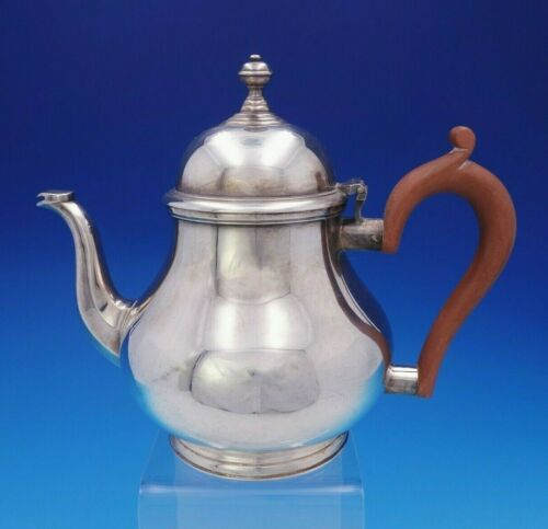 William and Mary by Atkin Brothers English Sterling Silver Tea Pot w/Wood #3662