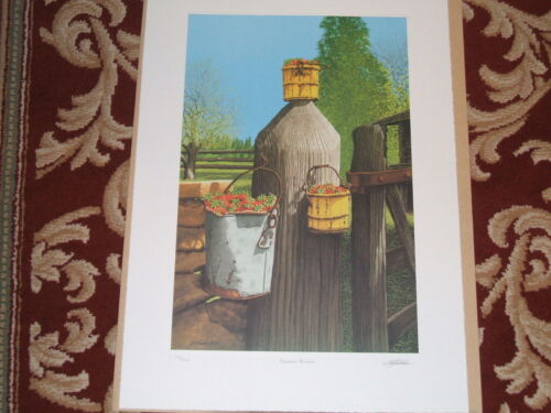 """Bob Timberlake print """" Summer Berries """" signed and numbered limited edition"""