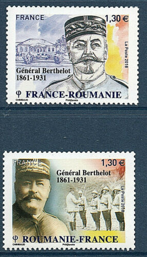 TIMBRES 5288-5289 NEUF XX - GENERAL BERTHELOT - EMISSION COMMUNE ROUMANIE