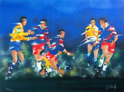 Victor Spahn - Rugby (lithograph, hand-signed & numbered, edition of 300)