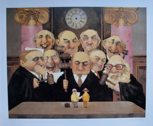 Charles Bragg MAY IT PLEASE THE COURT Hand Signed Limited Edition Lithograph Art