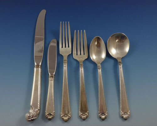 Lamerie by Tuttle Sterling Silver Flatware Service For 12 Set 72 Pieces
