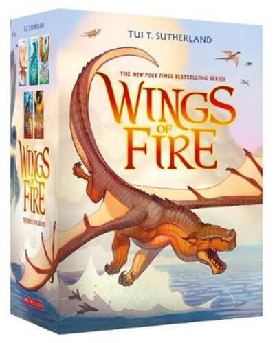 Wings of Fire 1-5 Boxed Set by Tui,T Sutherland Paperback Book Free Shipping!