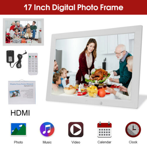 17'' LED HD Digital Picture Photo Frame Movie MP4 Player Remote Control+2GB Card