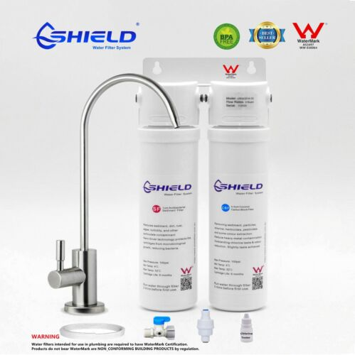 Twin Undersink Water Filter System Drinking 2 Stages Australian Standard Approve