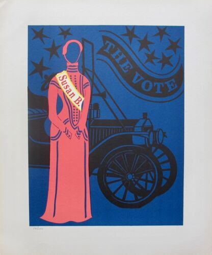 Robert Indiana SUSAN B. ANTHONY 1977 Limited Edition Lithograph Art MOTHER OF US