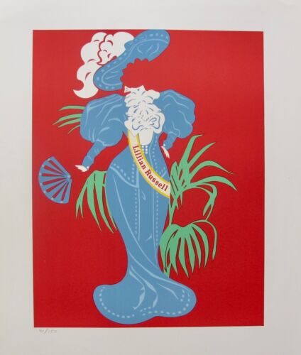 Robert Indiana LILLIAN RUSSELL 1977 Ltd Edition Lithograph Art MOTHER OF US ALL