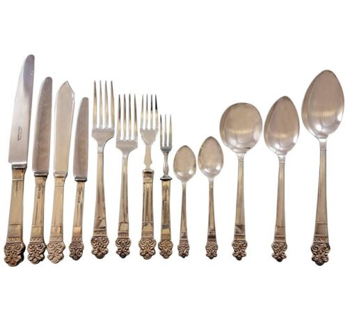 Elizabethan by Gee Holmes English Sterling Silver Flatware Set Service 164 pcs