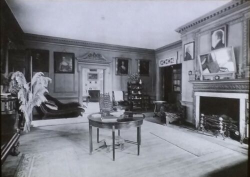 Parlor, Shirley Mansion, Shirley, Virginia, Circa 1910 Magic Lantern Glass Slide