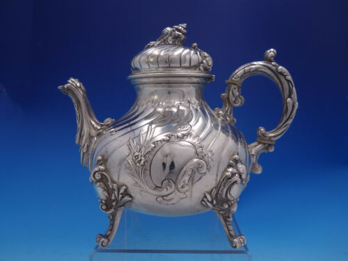 German 800 Silver Tea Pot #70892 Vintage Antique Shell Finial (#4038)