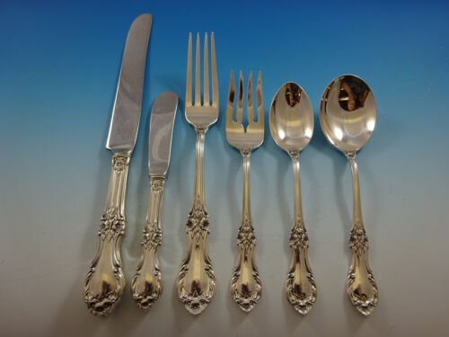 Wild Rose by International Sterling Silver Flatware Service Set 38 Pieces