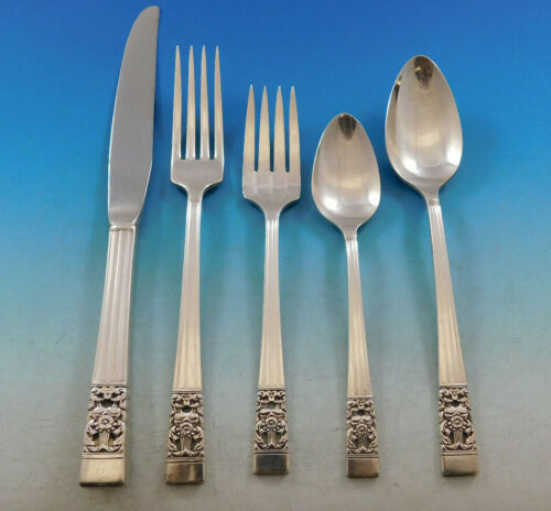 Coronation by Community Silverplate Vintage Flatware Set for 12 Service 63 Pcs