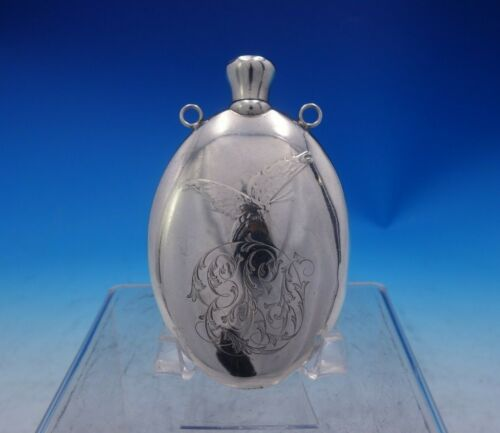 Antique Acid Etched by Whiting Sterling Silver Perfume Flask #2142F (#3966)